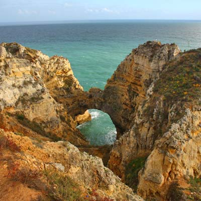 Sea arches of the Ponta da Piedade