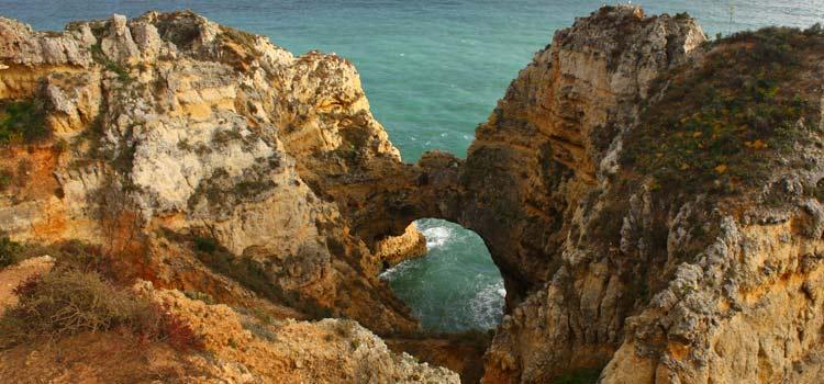 Ponta da Piedade cliffs